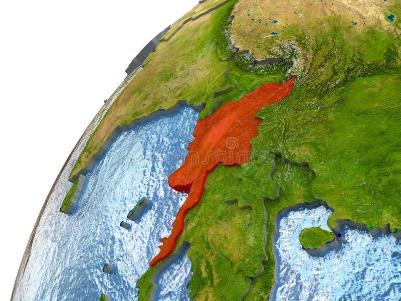 Myanmar auf Erde vektor abbildung