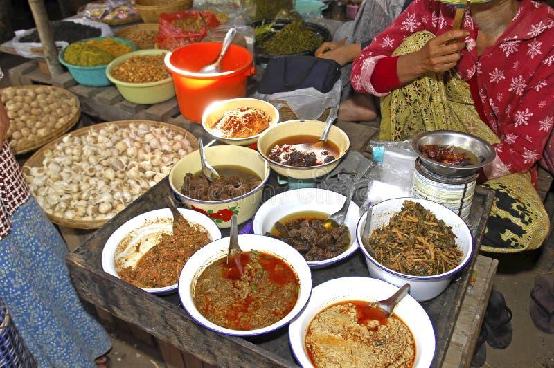 Myanmar, Bagan: Myanmar voedsel royalty-vrije stock fotografie