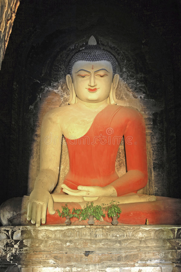 Download Myanmar, Bagan: Statue In A Pagoda Royalty Free Stock Photography - Image: 4902237