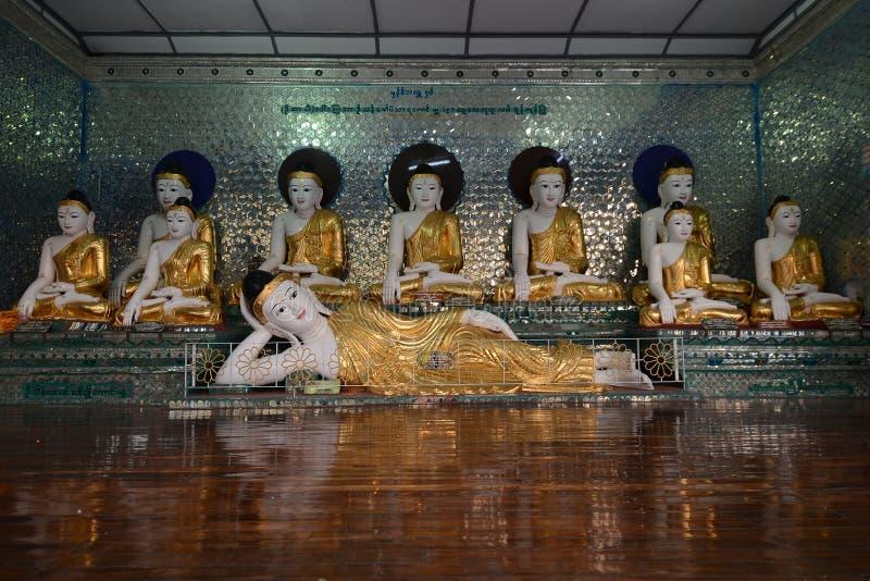 Myanmar Bhudda stock afbeelding