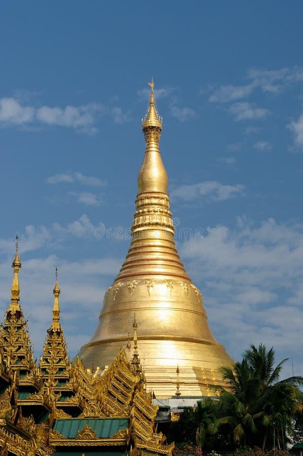 Myanmar (Birma), Shwedagon Paya in Rangun stockbilder