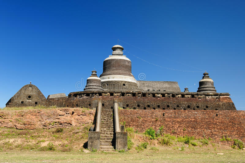 Myanmar (Birma), U Mrauk - Dukkanthein Paya royalty-vrije stock afbeelding