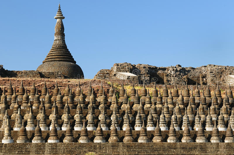 Myanmar (Birmania), Mrauk U - tempiale di Kothaung immagini stock libere da diritti