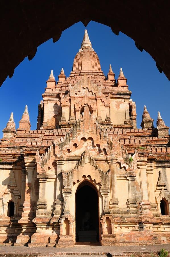 Myanmar (Birmanie), temple de Bagan images stock