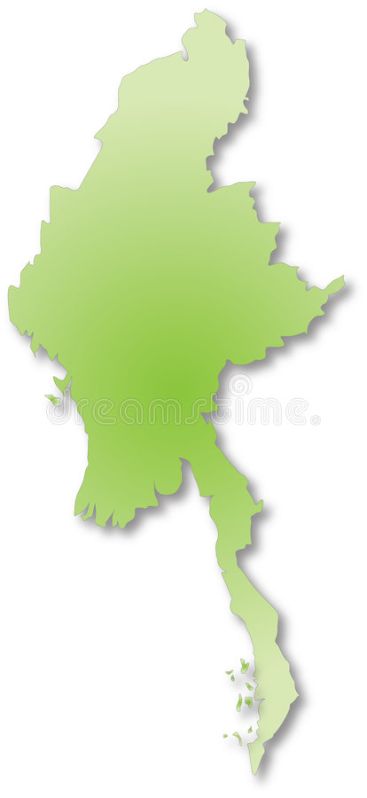 Myanmar Burma Map Stock Illustration Illustration Of East - Burma map download