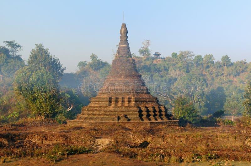 Myanmar (Burma), Mrauk U temple royalty free stock photo