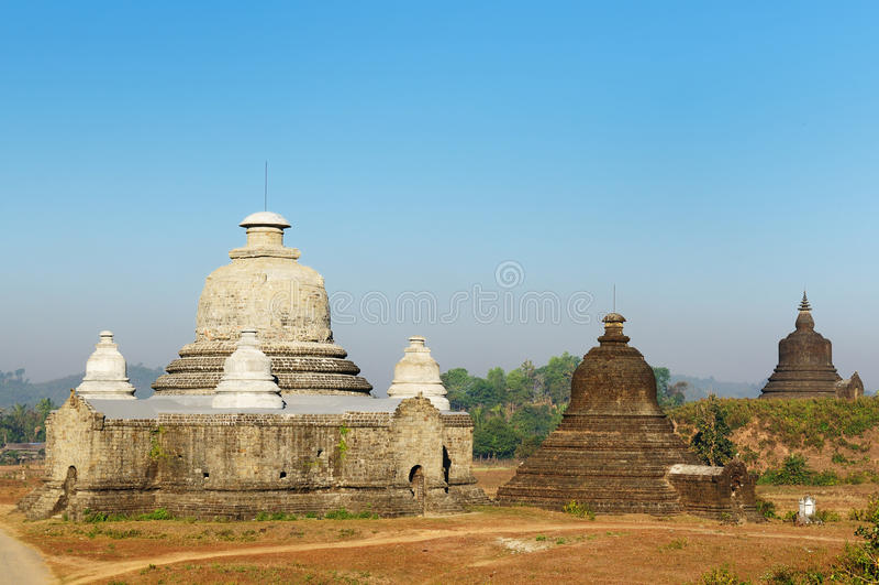 Myanmar (Burma), Mrauk U temple stock image