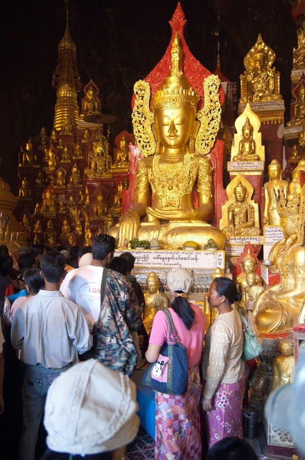 Myanmar, Burma, Pindaya Cave stock photography