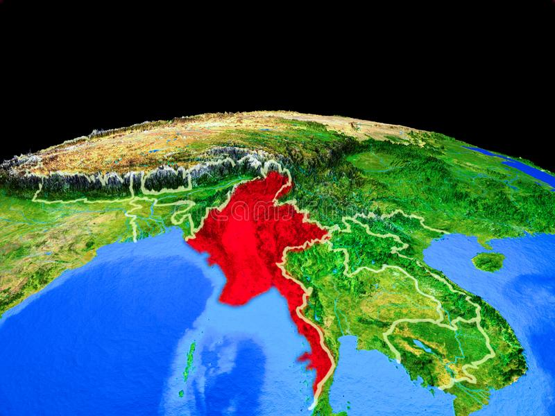 Myanmar del espacio en la tierra libre illustration