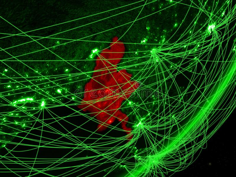 Myanmar en la tierra verde ilustración del vector