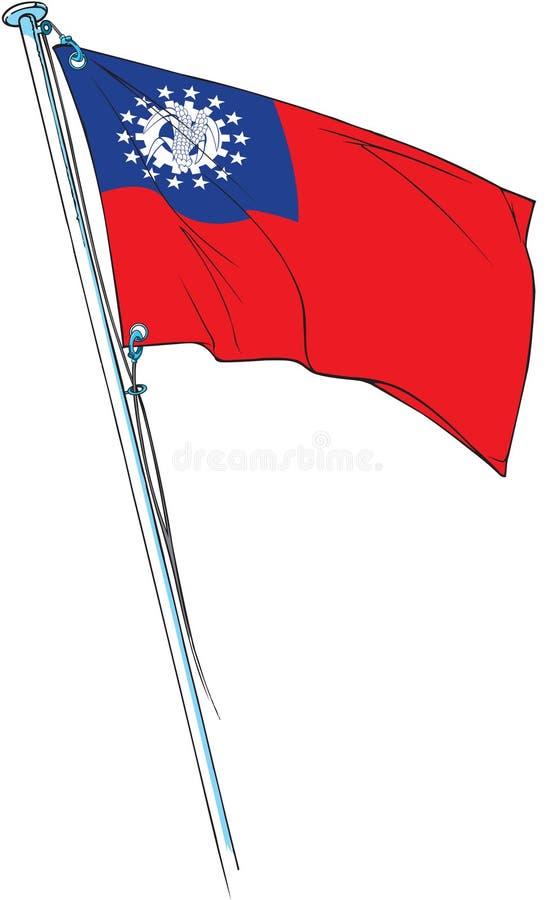 Myanmar-flag royalty free stock photography