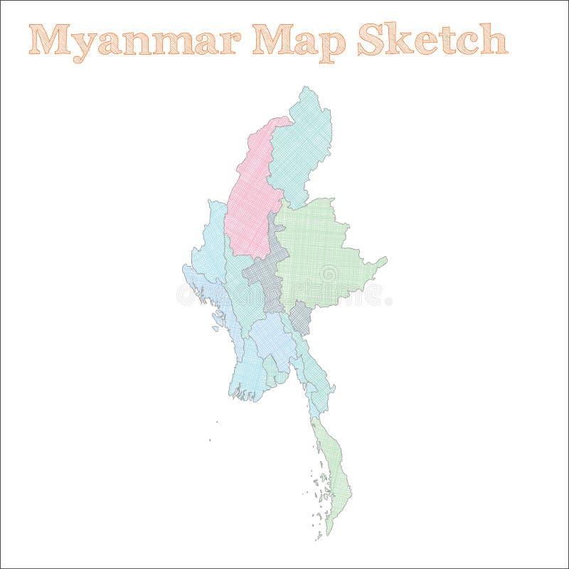 Myanmar-Karte stock abbildung