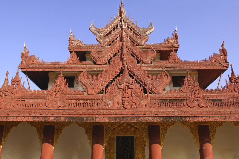 Myanmar, Mandalay: Pagoda foto de stock royalty free