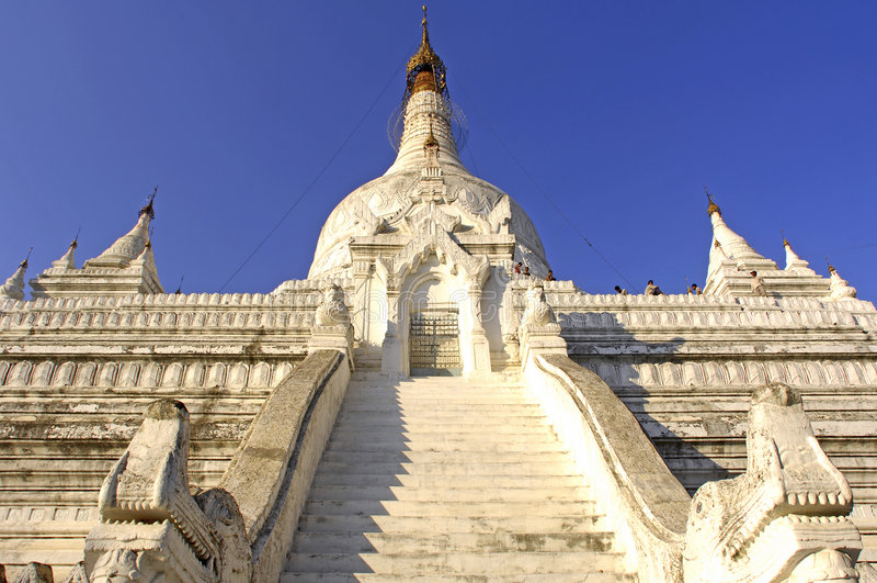 Myanmar, Mandalay: Pagoda stock images
