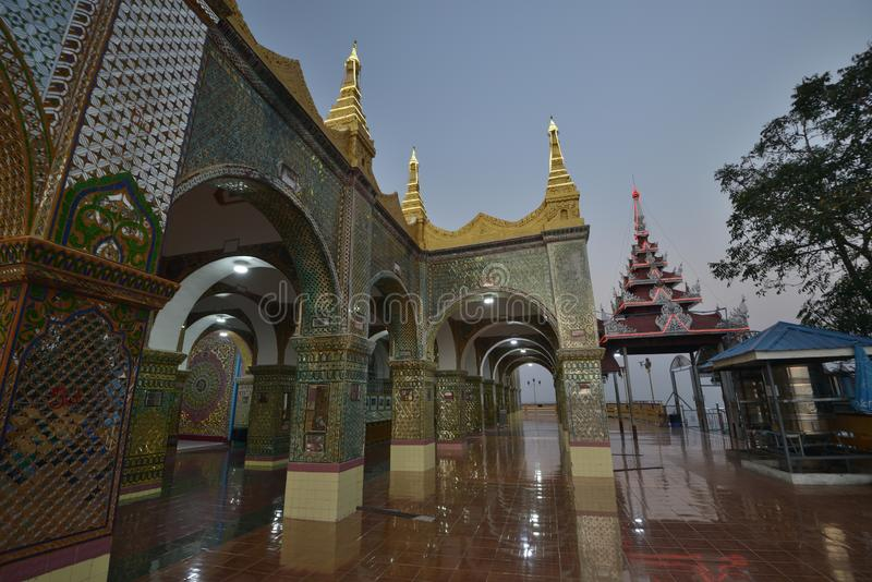 Mandalay Sutaungpye Pagoda royalty free stock photos