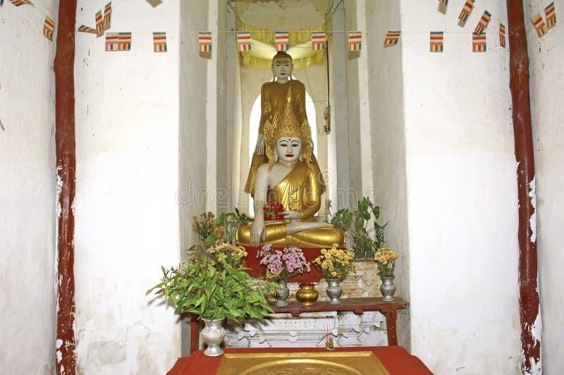 Myanmar, Mingun: pagoda blanca imágenes de archivo libres de regalías