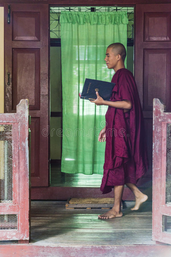 Myanmar monk`s royalty free stock images