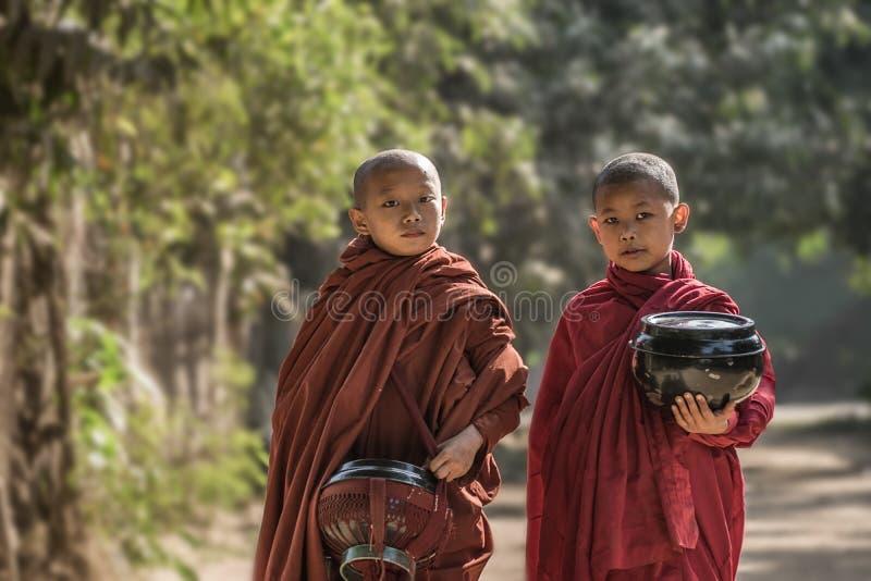 Myanmar monnik royalty-vrije stock afbeeldingen