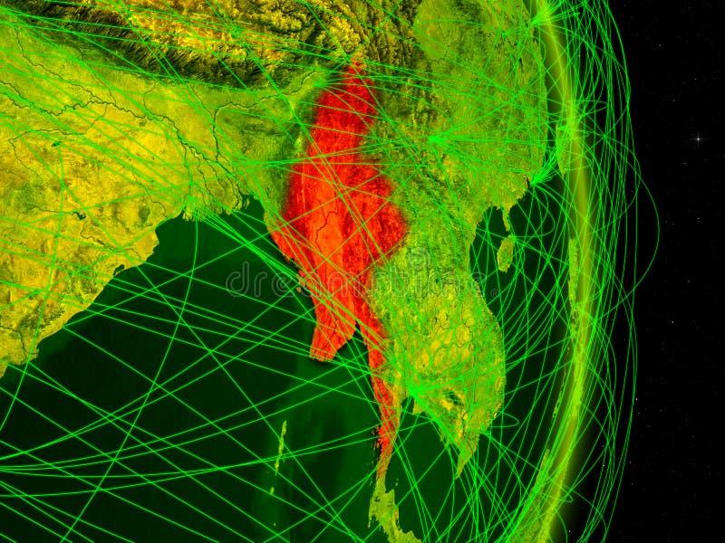 Myanmar na terra digital ilustração royalty free
