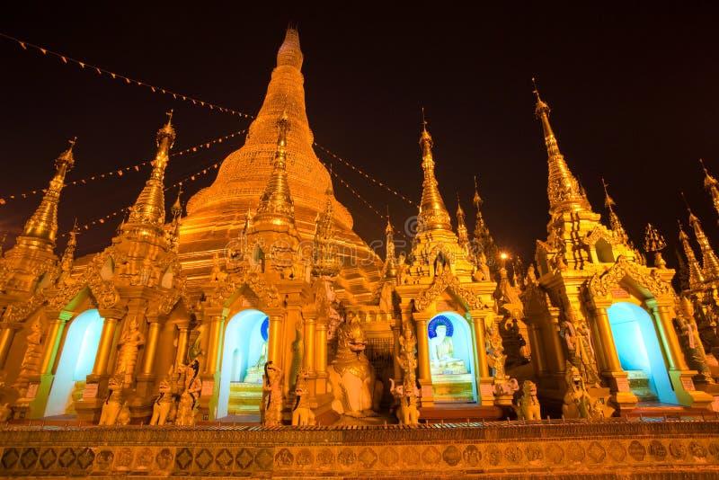 myanmar noc paya shwedagon yangoon zdjęcie royalty free