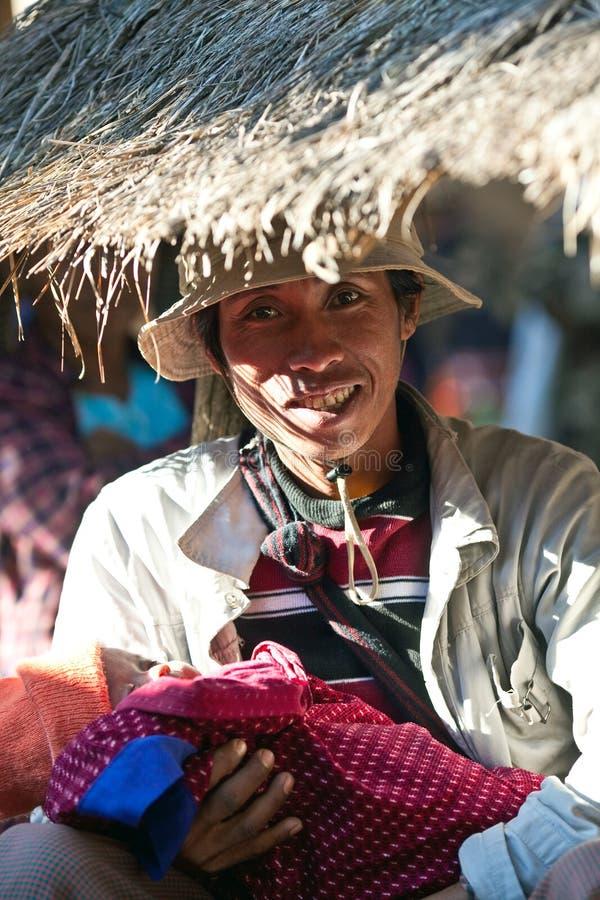 myanmar o pa ludzie plemienia fotografia royalty free