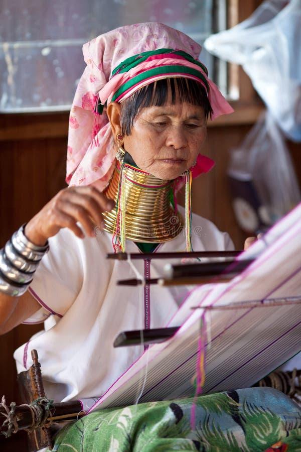 myanmar padaungkvinna royaltyfria bilder
