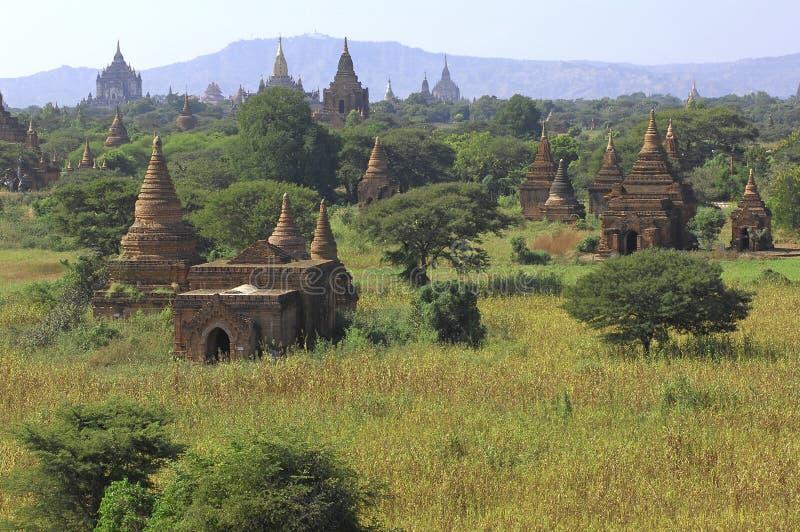 Myanmar ; panorama bagan images libres de droits