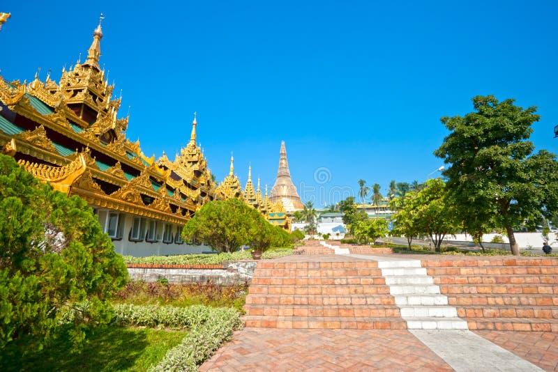 myanmar paya shwedagon yangoon zdjęcia stock