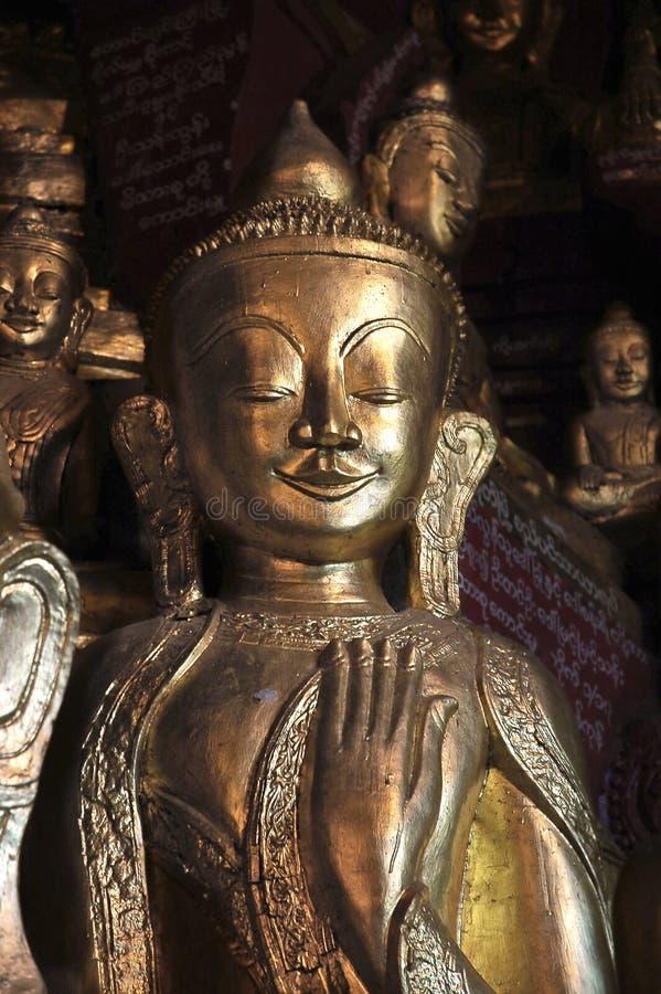 Myanmar, Pindaya: 8000 buddha's cave royalty free stock photos