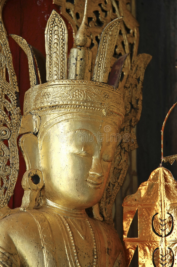 Myanmar, Pindaya: 8000 buddha's cave royalty free stock images