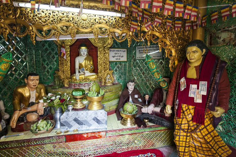 Myanmar - Popa mount. The nat inside the temple stock images