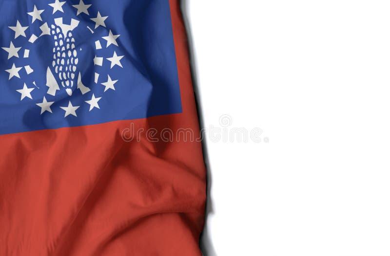myanmar a ridé le drapeau, l'espace pour le texte image stock