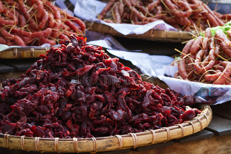 Myanmar straatvoedsel stock foto