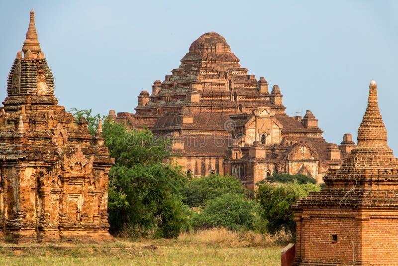 Myanmar tempel i den arkeologiska zonen, Bagan arkivfoto