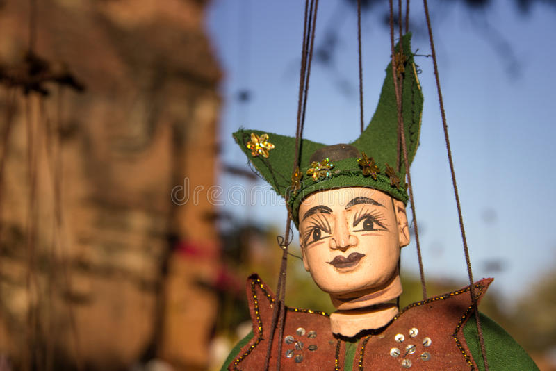 Myanmar tradition doll hanging stock photos