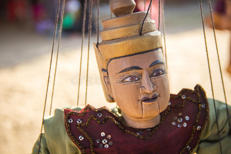 Myanmar tradition doll hanging stock image