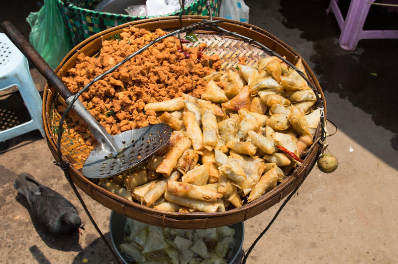 Myanmar voedsel stock fotografie