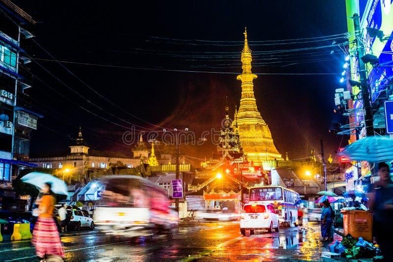 myanmar yangon royaltyfria bilder