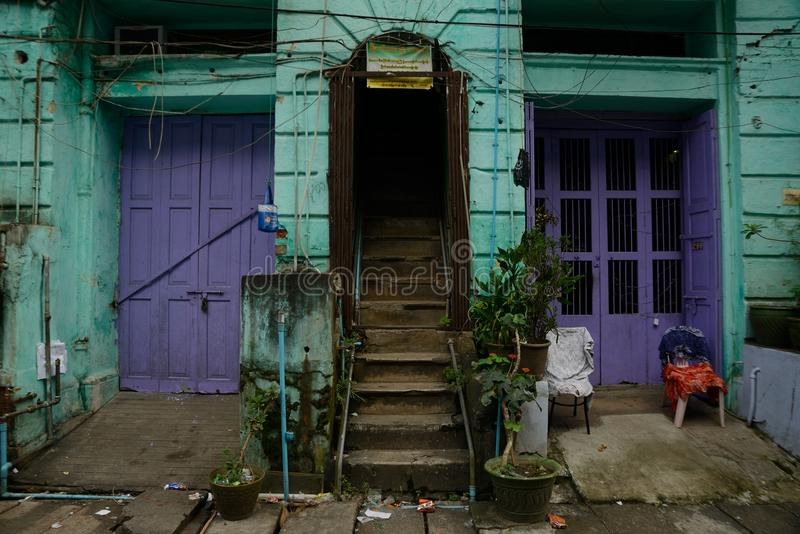 myanmar Yangon fotografia stock