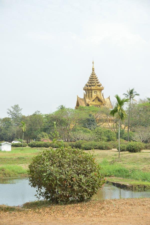 Kanbawzathadi Palace in Bago. Myanmar Yangon Kanbawzathadi Palace in Bago stock photography