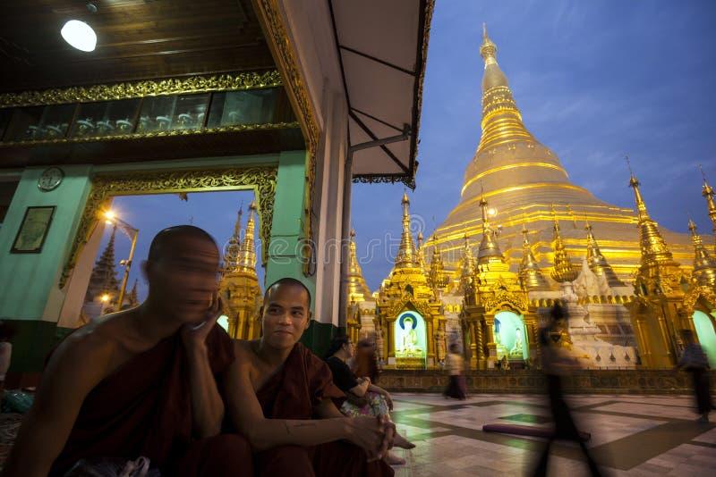Myanmar - Yangon - o GRANDE PAGODE de SHWEDAGON fotos de stock