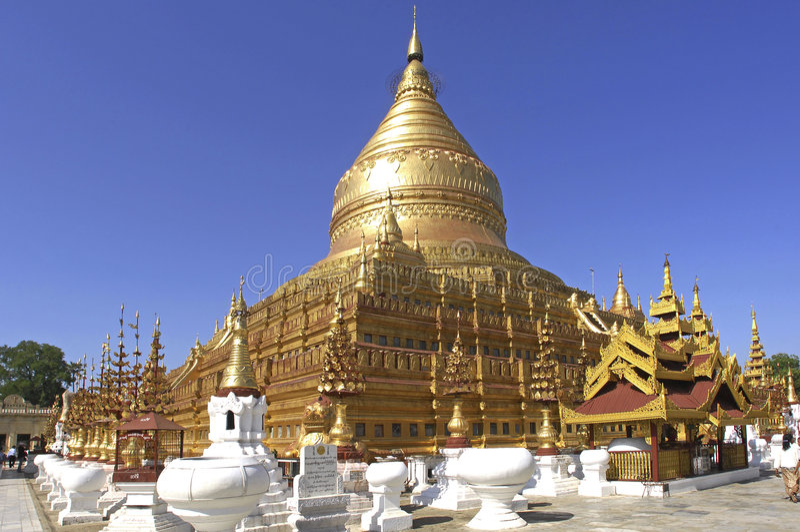 Myanmar, Yangon: Pagoda de Shwedagon fotos de stock royalty free