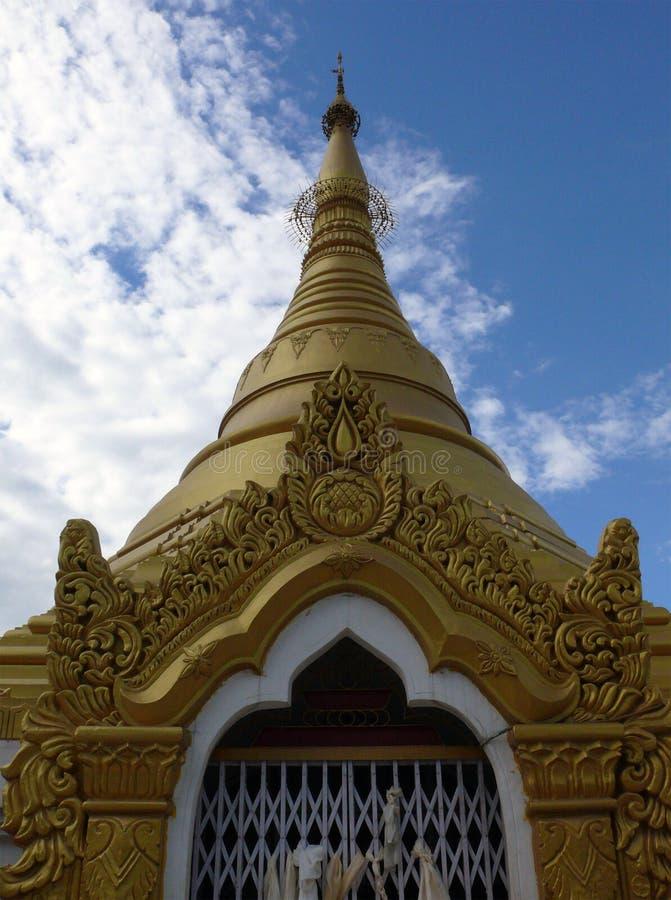 Myanmaresetempel in Lumbini, Geboorteplaats van Boedha royalty-vrije stock afbeeldingen