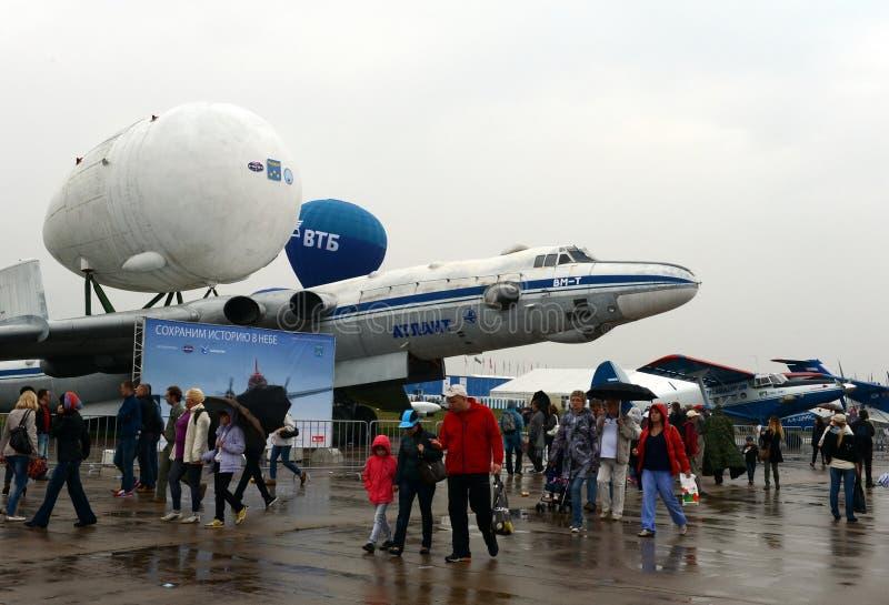 Myasishchev αεροσκάφος μεταφορών Atlant VM-τ †το» βαρύ είναι μια τροποποίηση του στρατηγικού βομβαρδιστικού αεροπλάνου 3M στοκ εικόνες με δικαίωμα ελεύθερης χρήσης