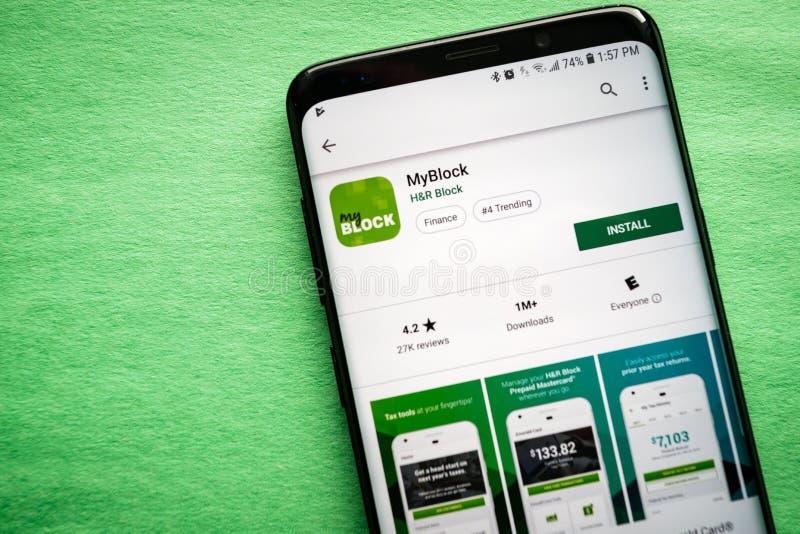 MyBlock door H&R Blok stock foto