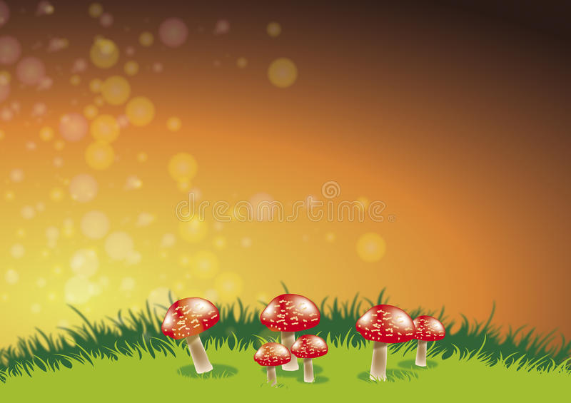 Mycètes rouges illustration stock
