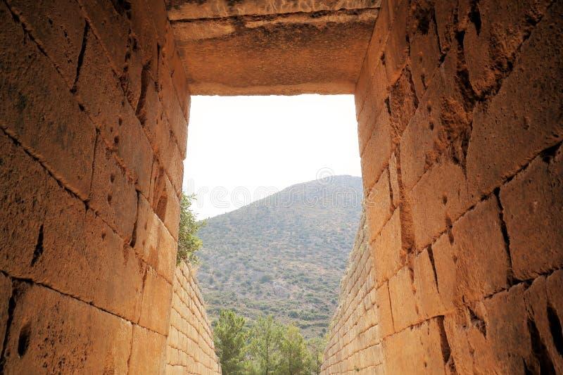 mycenae Греции стоковая фотография rf