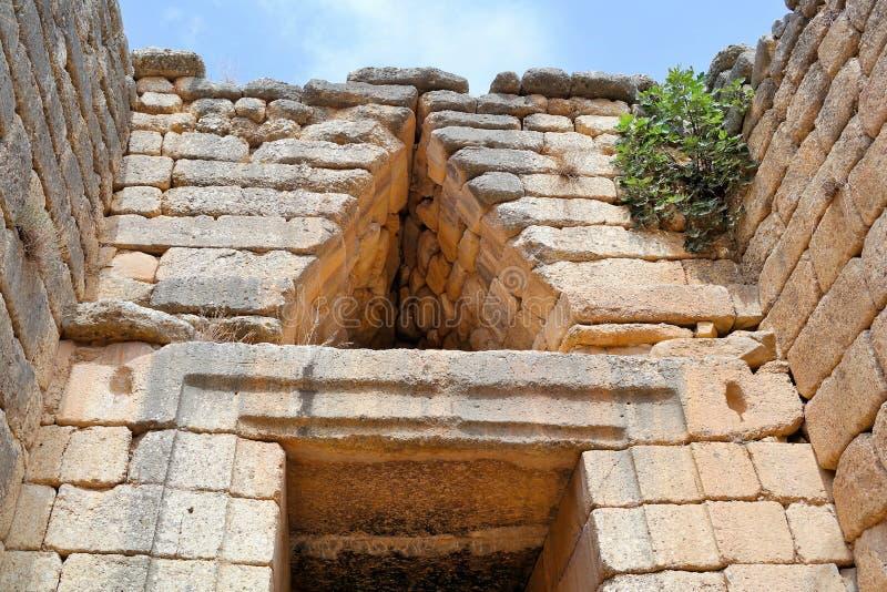 mycenae Греции стоковые фотографии rf