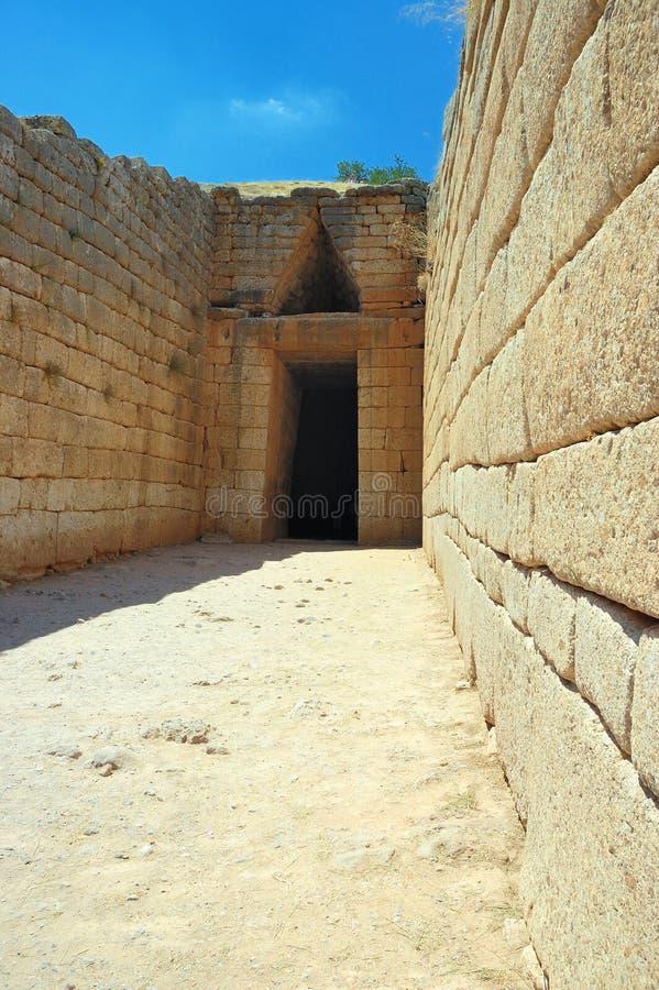 mycenae royaltyfria bilder