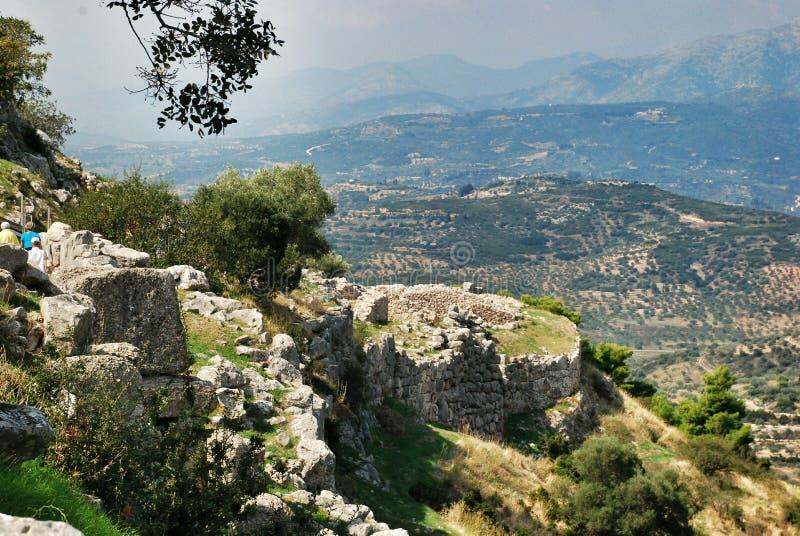 mycenae royaltyfri fotografi